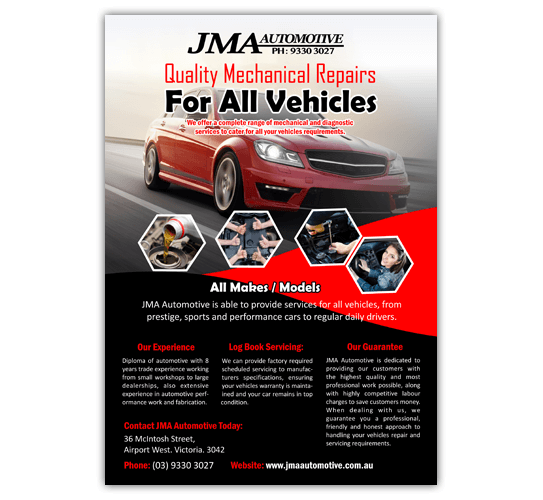 JMA Automotive Airport West Business Flyer